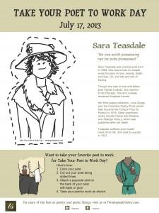 Take your poet to work - Sara Teasdale