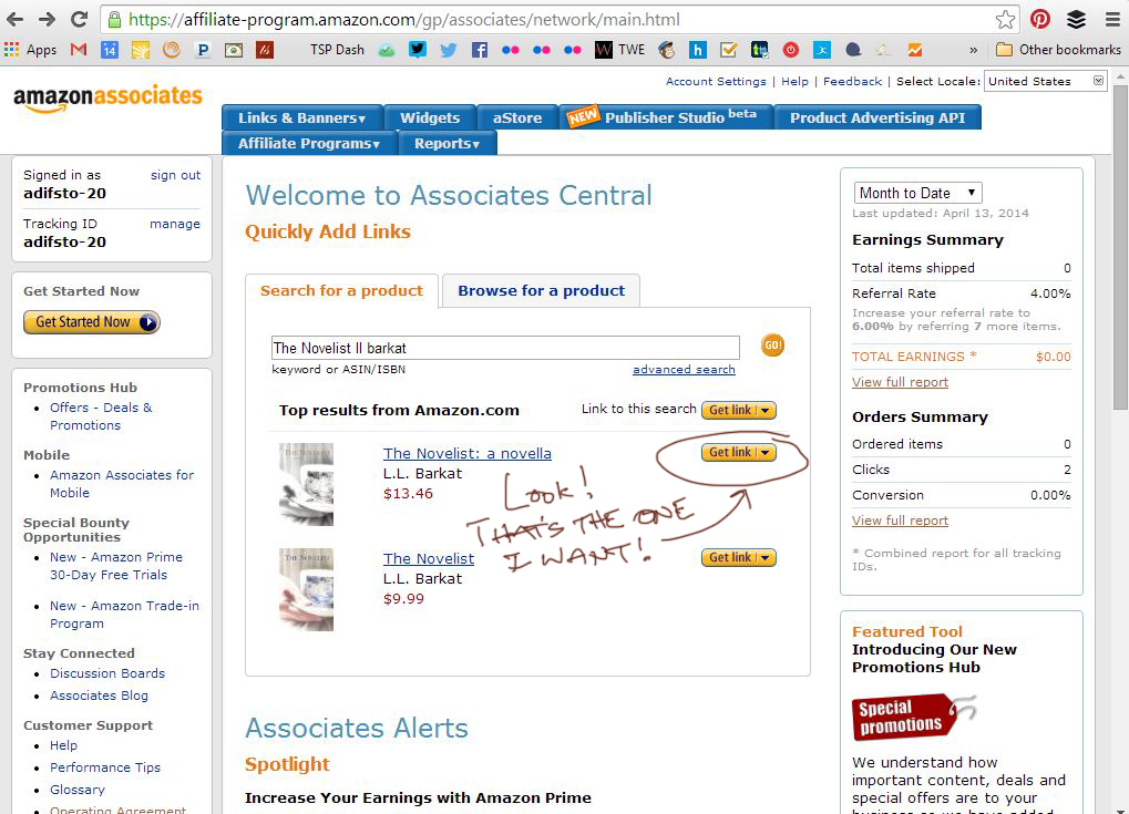 amazon affiliates search results